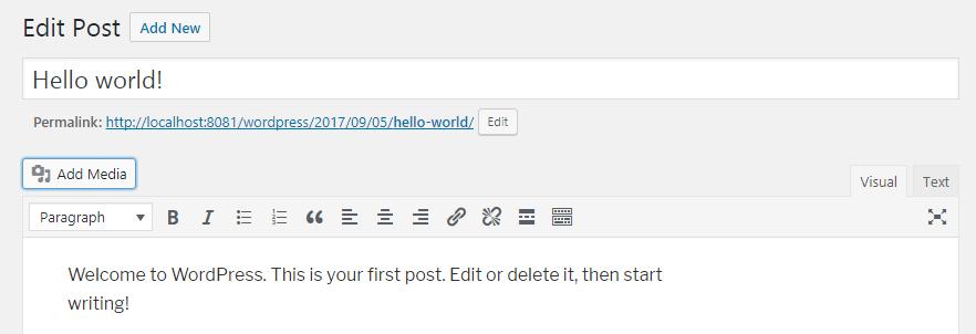 Wordpres Blog